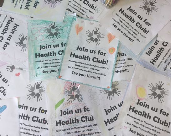 Kid's promoting the new health club!