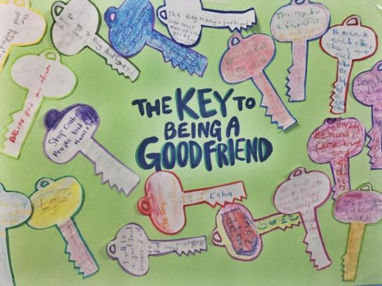 """The key to being a good friend is..."""
